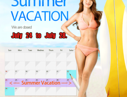 2017 Summer Vacation – Closed Day Information